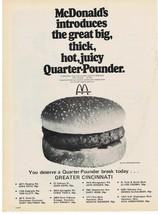 1971 McDonald's introduces Quarter Pounder Greater Cincinnati Stores Pri... - $9.99