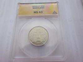 2000-P , Washington Quarter , Maryland , ANACS , MS 63 - $9.00