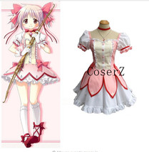 Anime Puella Magi Madoka Magica Kaname Madoka Cosplay Costume - $85.00
