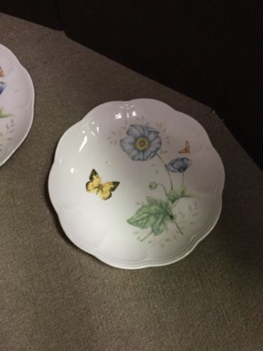 """Set of 2 Lenox Butterfly Meadow Monarch 9 1/4"""" Luncheon Plates image 2"""