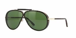Tom Ford Cedric TF0509 52N Dunkelbraun Aviator Sonnenbrille Grüne Linse Italien - $178.18
