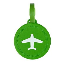 Circle Business Name Tag/ID Holder Luggage Tag Boarding Pass Cover-Green - $9.96