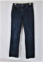 LRL LAUREN JEANS CO. WOMENS  2  DENIM DARK WASH STRAIGHT LEG STRETCH JEA... - $30.50