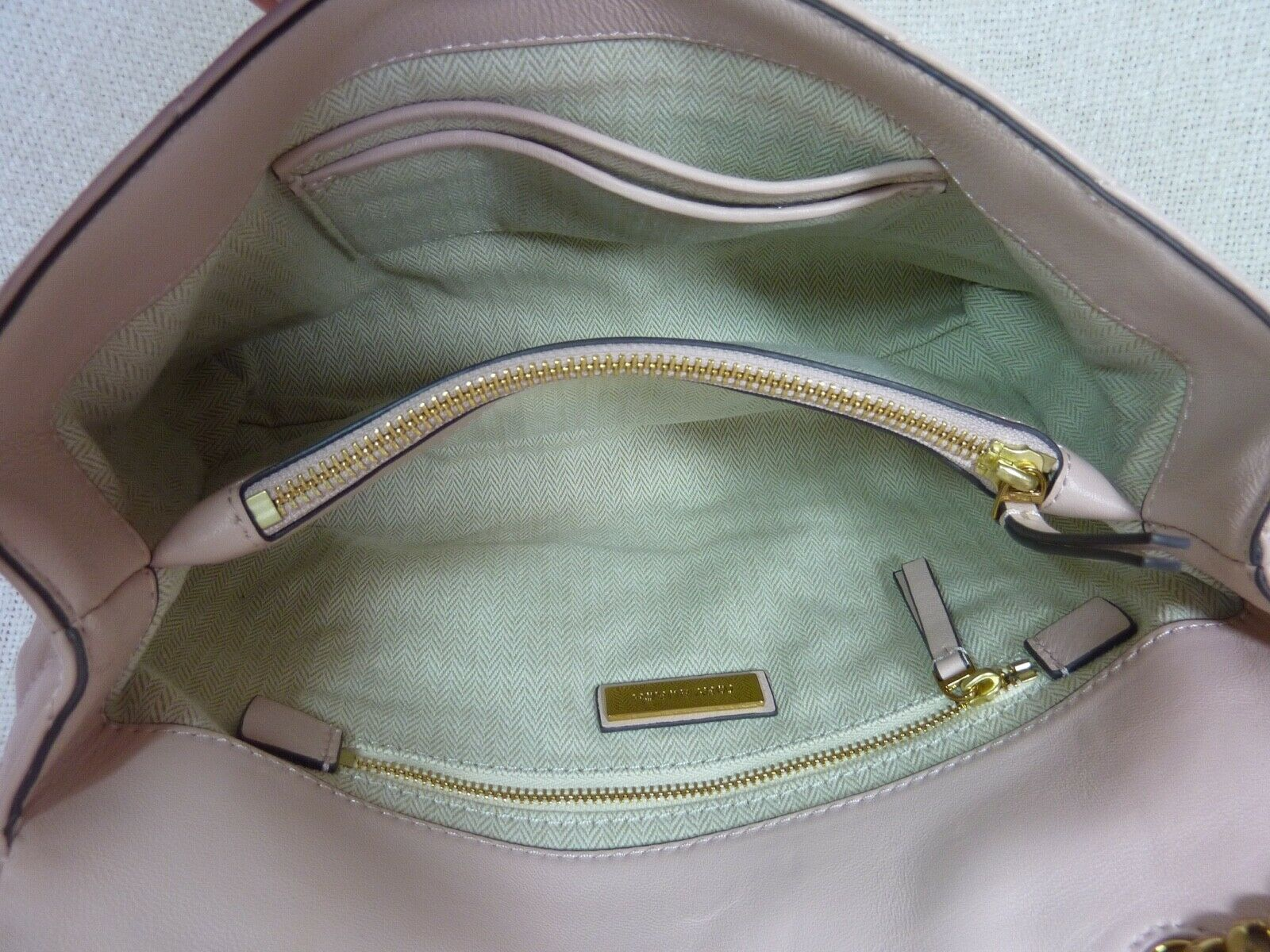 NWT Tory Burch Pink Moon Kira Chevron Convertible Shoulder Bag $528 image 10