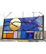 Glass Stained Glass Window Spring Blossum - $153.00