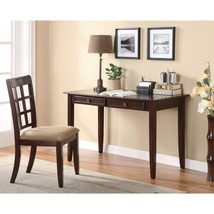 2 Piece Solid Wooden Desk Set, Brown - $711.41