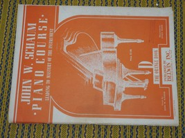 John W. Schaum Piano Course D - The Orange Book Published in 1945 Nice, ... - $8.81