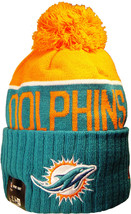 Miami Dolphins Beanie Knit Hat Offically Licensed By New Era And The NFL - $24.99