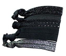 [Black] Set of 2 Fashionable Elastics Ponytail Holder Knotted Hair Ties - $9.85