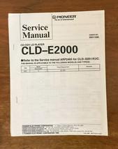 Sony CLD-E2000 CD CDV LD Player  Service Manual *Original* - $18.46