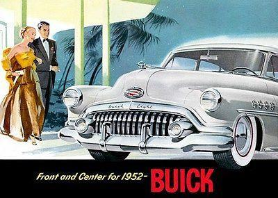 "Primary image for 1952 Buick ""Front and Center for 1952"" - Promotional Advertising Poster"