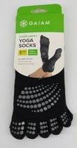 Gaiam Men Womens Size Small/Medium Black Super Grippy Yoga Socks Nwt New - £5.75 GBP