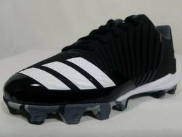 Adidas Icon MD K Youth Baseball Cleats Size 13K Boys or Girls Black White B39227 - $11.99