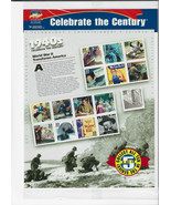 Celebrate The Century Stamps 1940's World War II Transforms America Shee... - $19.00