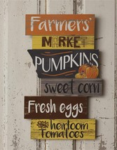 Country new FARMER'S MARKET fall wood wall sign - $18.69