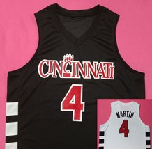KENYON MARTIN Cincinnati Bearcats Black Front / White Back Half Edition Jersey - $29.99