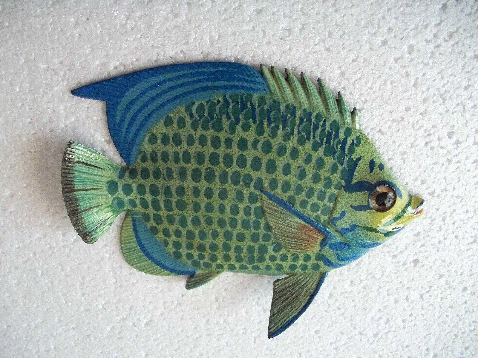 Primary image for Tropical Fish Wall Plaque Tiki Bar Beach Pool Nautical Decor Size 6 inch TFW13