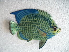 Tropical Fish Wall Plaque Tiki Bar Beach Pool Nautical Decor Size 6 inch... - $10.49