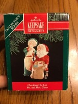 Hallmark Keepsake Ornament Checking His List Mr. And Mrs. Claus - $21.32