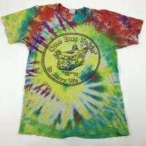 Vtg 90s Bus Tokin' Jerry Garcia VW Bus TIE DYE T-shirt summer tour Singl... - $44.55