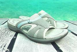 EASY SPIRIT Sahara Explore 24 Sandals Leather Gray Slip On Women's Size 5M - $26.32
