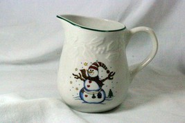 GEI Snowman Holly Rim Creamer GC16 - $6.92