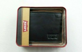 Levi's Men's Wallet Bifold Brown Leather Billfold Passcase New Gift Box ... - $24.41
