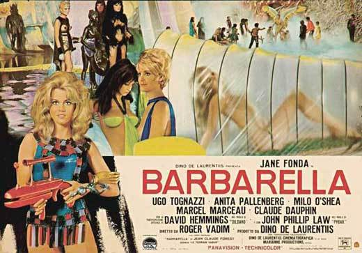 Barbarella movie poster 1967 11x17
