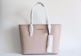 NWT MICHAEL KORS JET SET TRAVEL LEATHER  LEATHER TRAVEL TOP ZIP TOTE BLUSH - $168.83