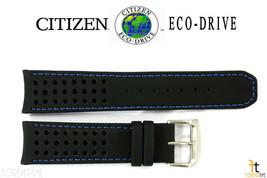 Citizen 59-s52492 Original 22mm Cuir Noir Bracelet de Montre At7030-05e - $87.77