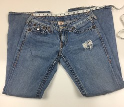 True Religion Womens  Jean Section Joy Big T Stretch Sz 28 Destroyed - $29.96