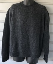 J CREW 100% Lambs Wool Crew Neck Gray Sweater Sz L - $29.69
