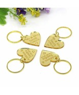 Keyring Mr&Mrs Surname Gold Mirror 200Pcs 40x40 Mm Personalized Engraved... - $304.20