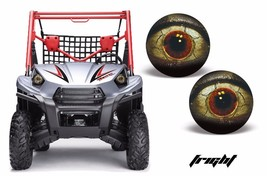 AMR Racing Headlight Eye Graphic Decals Light Cover Kawasaki Teryx 10-14... - $18.95