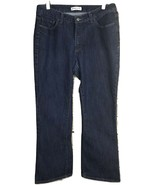 Riders By Lee Womens Jeans Size 12P Boot Cut Dark Wash Stretch - $11.29