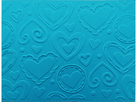 Darice Hearts Background Embossing Folder, Great for Card Making!