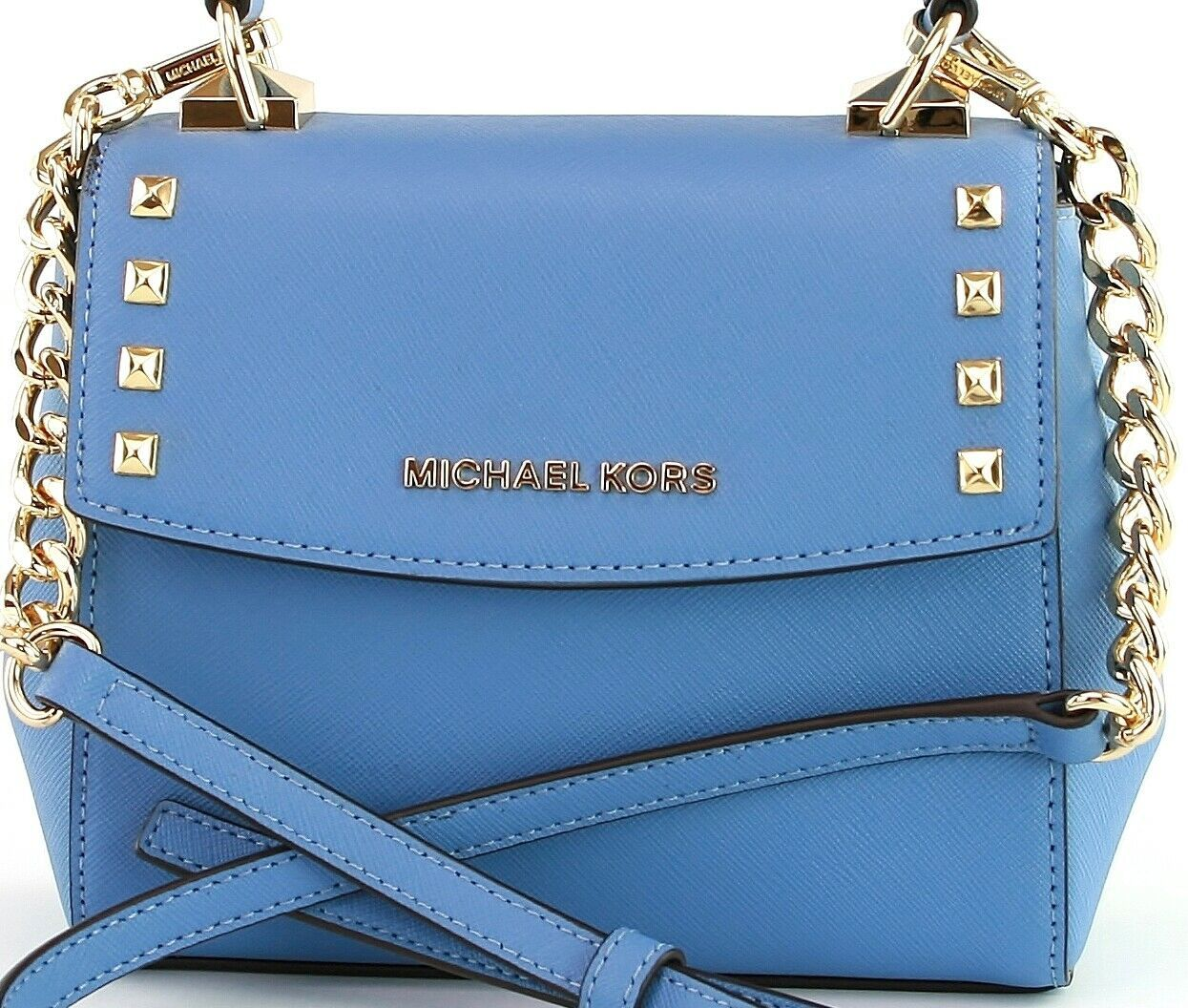 Michael Kors Cross Body Bag Karla Leather Small Handbag French Blue RRP £200 image 7