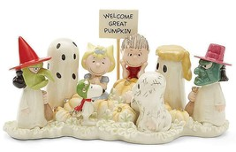 Lenox Peanuts Halloween Figurine Welcome Great Pumpkin Charlie Brown Sno... - $138.60