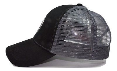 """ Mountain Adventure "" Granule Adjustable Black Mesh back Trucker Style Cap Hat"