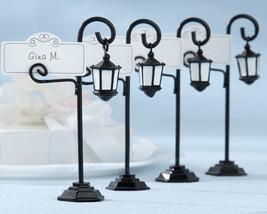 152 Bourbon Street Black Streetlight Lamp Wedding Place Card Holders wit... - $199.50