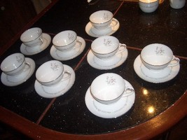 vintage  NORITAKE MAYFAIR SET OF 8 COFFEE CUP /SAUCERS ALL GOOD CONDITION - $14.99