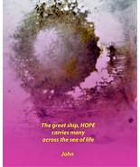 Meditation Art, Peace Art, Yoga Art - Hope - Quality A3 Print - $50.00