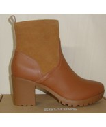 Soludos Dani Saddle Shearling Platform Stacked Heel Ankle Boots Size US ... - $88.06