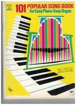 Song Book ~ 101 Popular Song Book for Easy Piano ~ Easy Organ ~  - $24.70