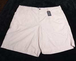 """CHAPS Mens Shorts Beige Size 50 Waist 100% Cotton Inseam 9"""" NWT  - $44.03"""