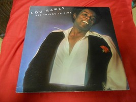 "Vintage  LP Record- LOU RAWLS ""All Things in Time"" - $8.50"