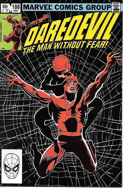 Daredevil Comic Book #188 Marvel Comics 1982 NEAR MINT+