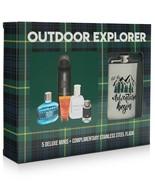 Outdoor Explorer Men 6-Pc Sampler Gift Set Staneless Flask John Varvatos Artisan - $24.49