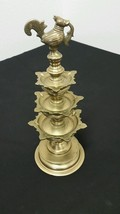 """ANTIQUE  BRONZE BRASS 12"""" TALL CHINESE ORNATE FOUNTAIN ROOSTER CHICKEN A... - $56.09"""