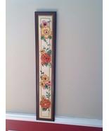 "Vintage Handmade hand stitched Floral Needlepoint Framed Panel   L 37"" X... - $98.01"
